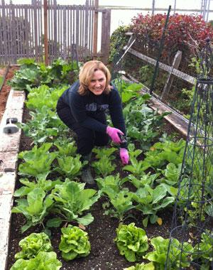 Kelli Trosvig in her garden