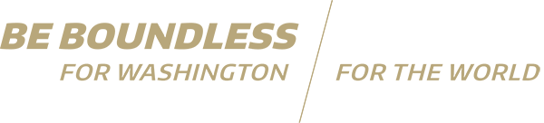 Be Boundless for Washington, for the World - tagline