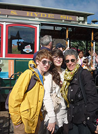 Donna Denno with her kids in San Francisco