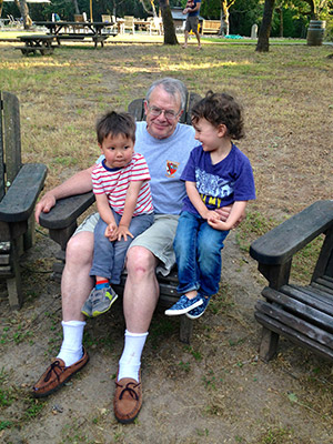 Larson with two of his grandsons
