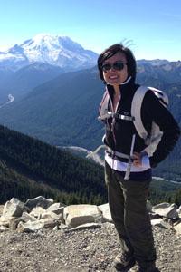 Marie Ng hiking