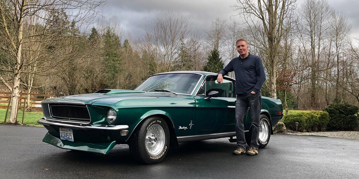 68 Mustang car