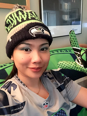 Nuttada in Seahawks gear photo