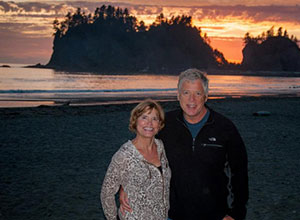 Bud Kukull and his wife Di on the Oregon coast