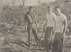 Bud Kukull in Guam in Navy 1967