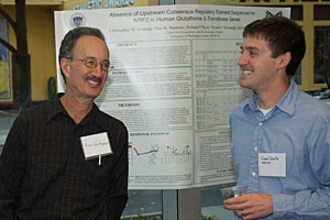 Evan Gallagher presenting poster