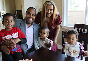 Timothy Thornton with his family