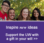 Inspire new ideas: Support the UW with a gift in your will