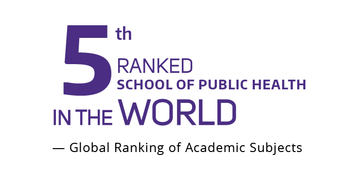 Nummber 5 Ranked School of Public Health in the World