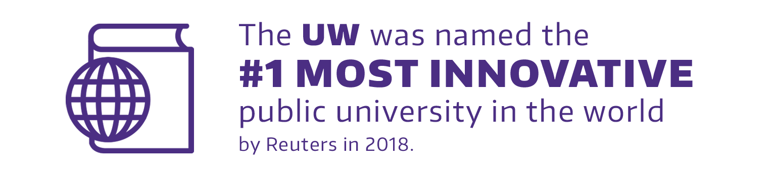 #1 Most Innovative public university in the world by Reuters in 2018