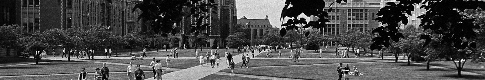 UW Quad with students outside 05/1967