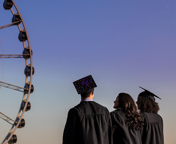 Graduates by the Great Wheel