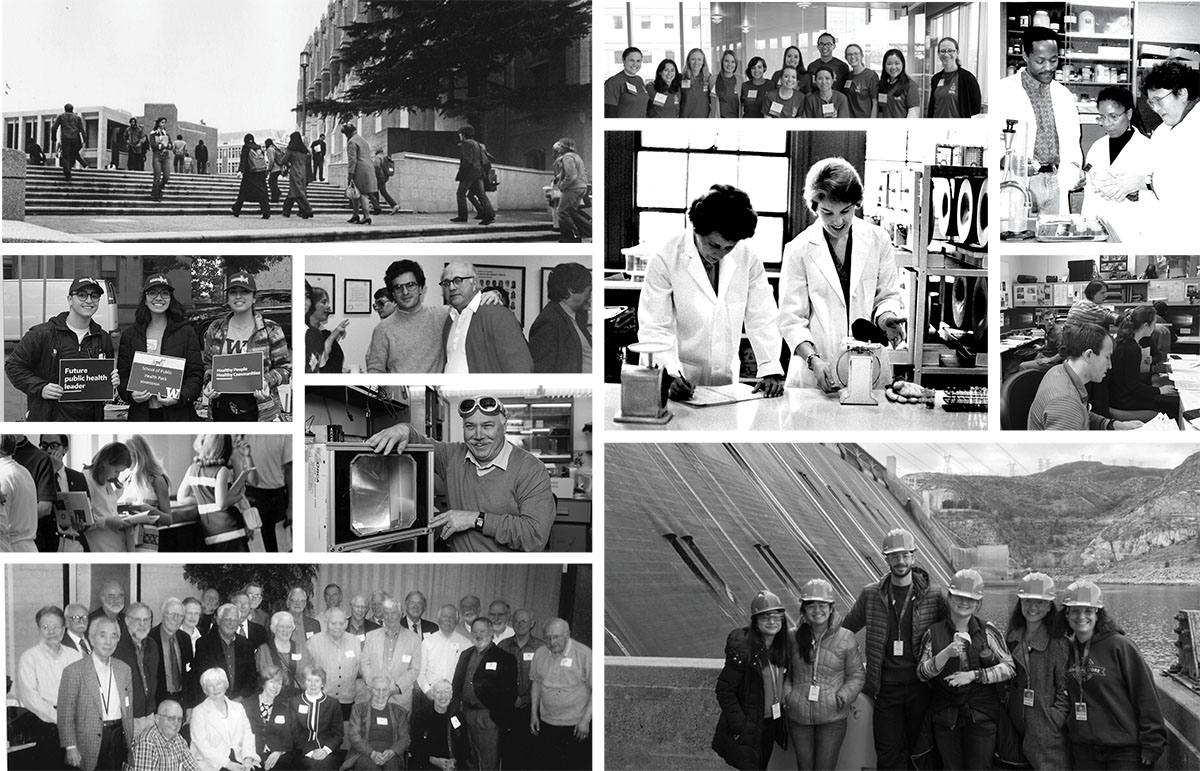 Collage of historical SPH photos