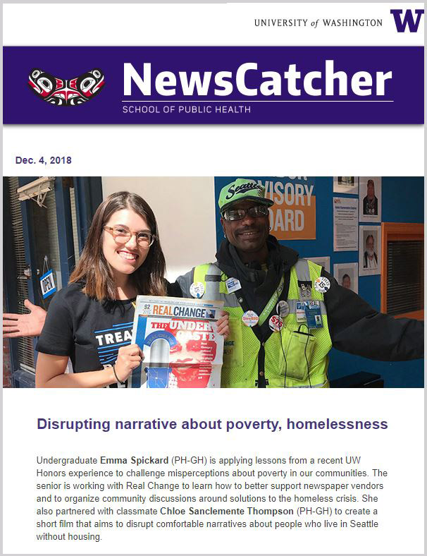 NewsCatcher newsletter - homelessness