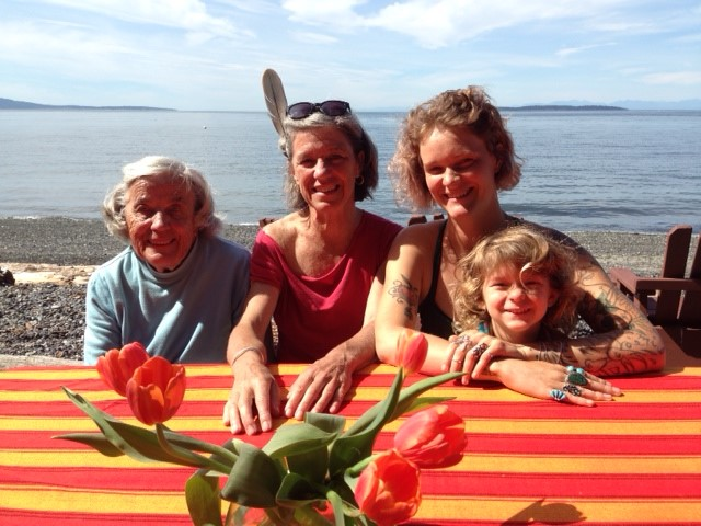 Vander Stoep with her mother, daughter and granddaughter on Orcas Island.