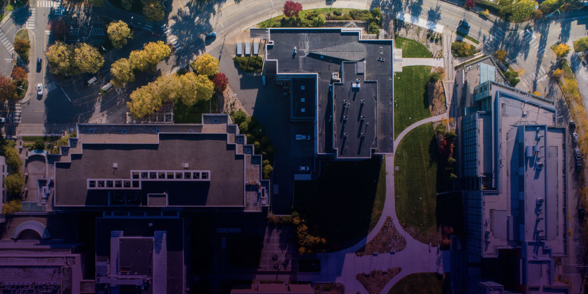 South Campus drone aerial shot