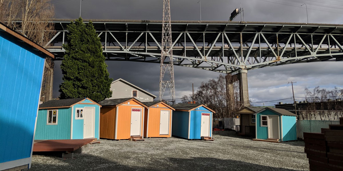 A tiny house village in the Seattle area. (Photo: Jessica Mogk)